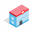 ambulance, building, healthy, hospital, isometric, medical, medicine icon