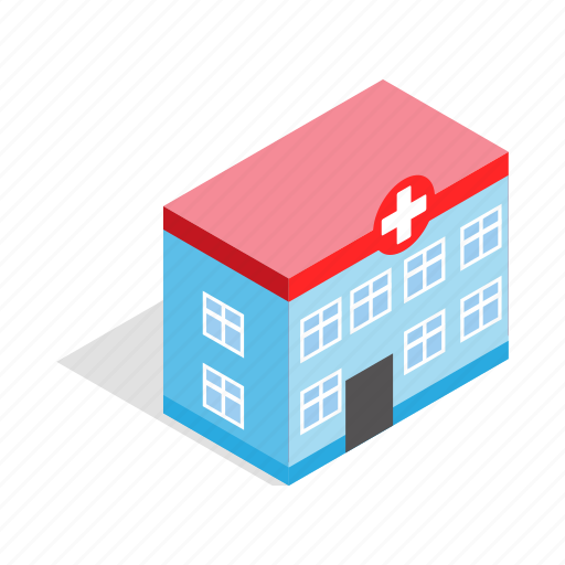 Ambulance, building, healthy, hospital, isometric, medical, medicine icon - Download on Iconfinder