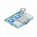 factory, industrial, isometric, plant, purifier, treatment, water icon