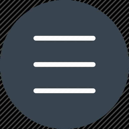 list, menu, navigation icon