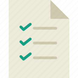 clipboard, file, list, note, page, paper icon