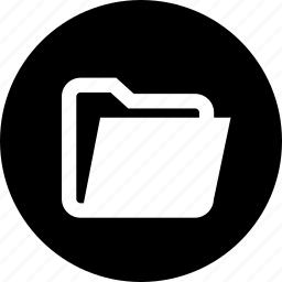 files, folder, open icon