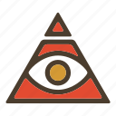 all seeing eye, illuminati, pyramid, secret society icon