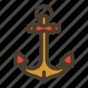 anchor, boat, marine, sailor icon