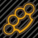 brass knuckle, fist, gangster, weapon