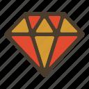 diamond, gold, jewel, precious icon