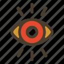eye, observe, retina, see icon