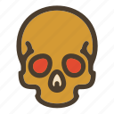 bone, death, skeleton, skull icon