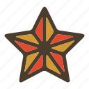 rank, soldier, space, star icon