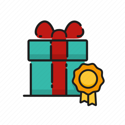 badge, certificate, gift, gift certificate icon