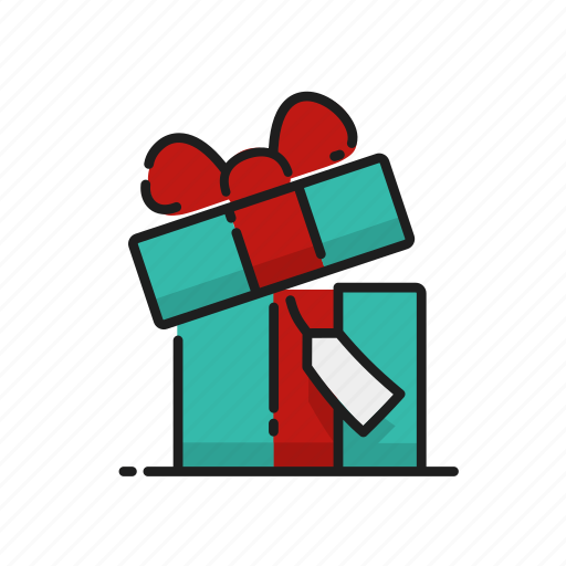 Gift Box Opening Tag Icon