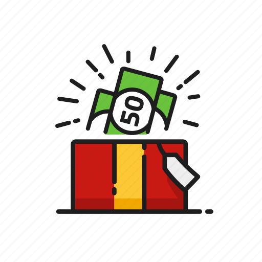 cash, financial, gift, money icon