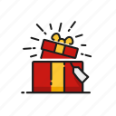 gift, gift box, prank, surprise icon
