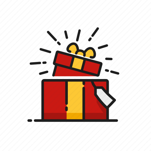 gift, gift box, prank, surprise icon