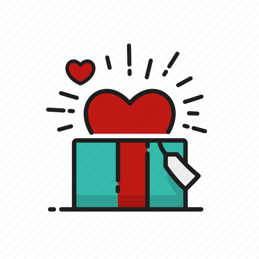 gift, heart, love, proposal icon