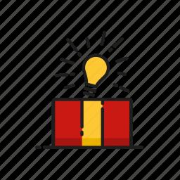 bulb, christmas, gift, idea icon