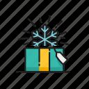 box, christmas, gift, snowflake
