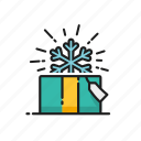 box, christmas, gift, snowflake icon