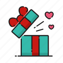 emotion, gift, heart, love icon