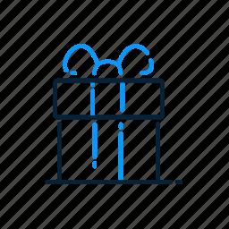 christmas, gift, gift box, ribbon icon