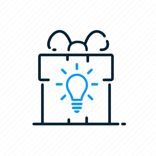 bulb, concept, gift, idea icon
