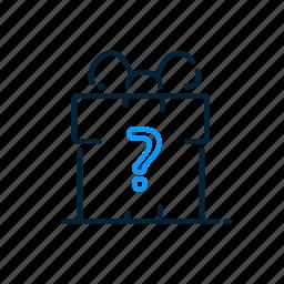 concept, gift, idea, question icon