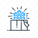 christmas, gift, snowflake, winter icon