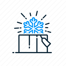 christmas, gift, snowflake, winter icon