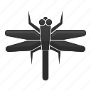 bug, dragonfly, insect, nature icon
