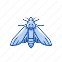animal, butterfly, flying insect, insects, maggot, moth, pest icon