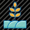 agriculture, farm, farming, landscape, wheat icon