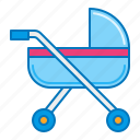 baby goods, carriage, pram, stroller icon