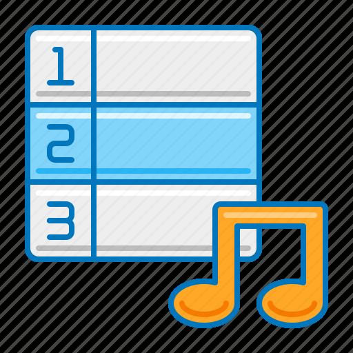 chart, music, music chart, ranking icon