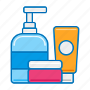 cleanser, conditioner, cream, moisturiser, personal care, products, shampoo icon