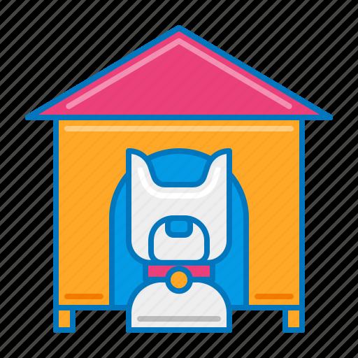 dog, dog house, pet, pet service, service icon