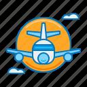 aeroplane, airline, airplane, flight, plane icon