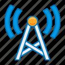 cell tower, radio, radio station, signal, station, tower, transmission icon
