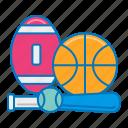 sporting, goods, baseball, football, sport equipments, sporting goods, basketball