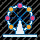 circus, ferris wheel, theme park icon
