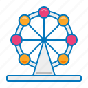 circus, ferris wheel, theme park