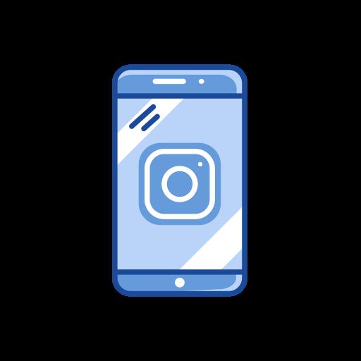 instagram logo, logo, mobile, phone icon