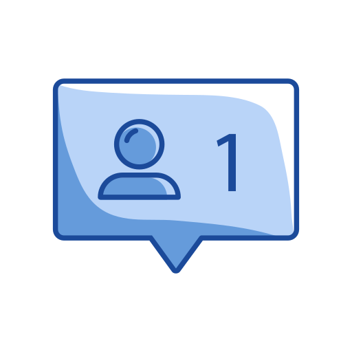 comment, message, one comment, one message request icon