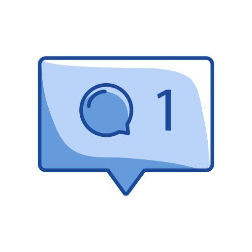 message, one, one comment, one message icon