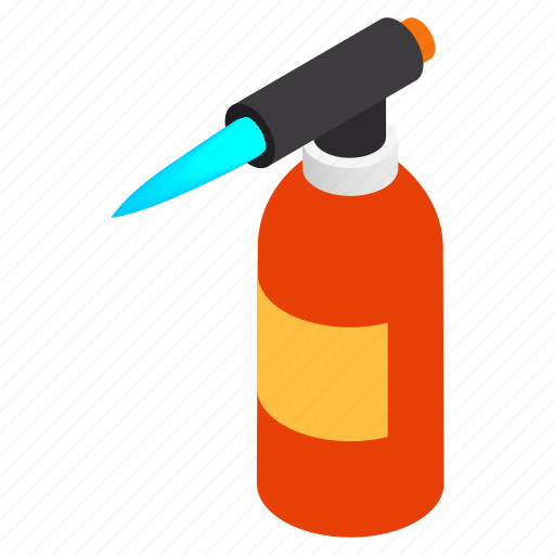 blowtorch, flame, isometric, quirky, tool, torch, traditional icon