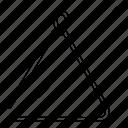 audio, instrument, music, musical, sound, triangle icon