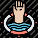 lifesaver, buoy, float, drowning, rescue icon
