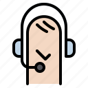 call, center, headset, line, phone, service icon