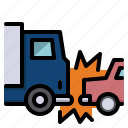 accident, cars, collision, crash, transport icon