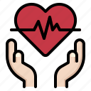 health, insurance, love, medical, protect icon