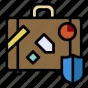 baggage, damage, luggage, protect, travel icon